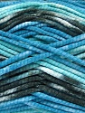 Fiber Content 100% Exoline, White, Turquoise, Brand Ice Yarns, Blue, Black, Yarn Thickness 4 Medium  Worsted, Afghan, Aran, fnt2-54488