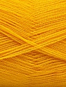 Very thin yarn. It is spinned as two threads. So you will knit as two threads. Yardage information is for only one strand. Состав пряжи 100% Акрил, Brand Ice Yarns, Gold, fnt2-54695