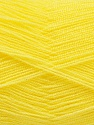 Very thin yarn. It is spinned as two threads. So you will knit as two threads. Yardage information is for only one strand. Fasergehalt 100% Acryl, Yellow, Brand Ice Yarns, fnt2-54698