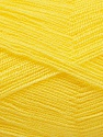 Very thin yarn. It is spinned as two threads. So you will knit as two threads. Yardage information is for only one strand. Fasergehalt 100% Acryl, Yellow, Brand Ice Yarns, fnt2-54699