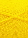 Very thin yarn. It is spinned as two threads. So you will knit as two threads. Yardage information is for only one strand. Fasergehalt 100% Acryl, Yellow, Brand Ice Yarns, fnt2-54701