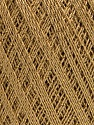 Ne: 10/3 Nm: 17/3 Fiber Content 96% Mercerised Cotton, 4% Metallic Lurex, Brand ICE, Gold, Camel, Yarn Thickness 1 SuperFine  Sock, Fingering, Baby, fnt2-54759