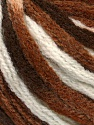Fiber Content 50% Acrylic, 50% Wool, White, Brand ICE, Brown Shades, Yarn Thickness 6 SuperBulky  Bulky, Roving, fnt2-54765
