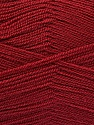 Very thin yarn. It is spinned as two threads. So you will knit as two threads. Yardage information is for only one strand. Fasergehalt 100% Acryl, Brand Ice Yarns, Burgundy, fnt2-54875