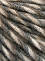 Fiber Content 50% Merino Wool, 25% Acrylic, 25% Alpaca, Brand Ice Yarns, Grey, Cream, Beige, Yarn Thickness 5 Bulky  Chunky, Craft, Rug, fnt2-55237