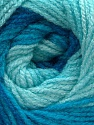 Fiber Content 100% Acrylic, Turquoise Shades, Brand Ice Yarns, Yarn Thickness 3 Light  DK, Light, Worsted, fnt2-55355