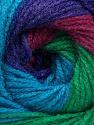 Fasergehalt 100% Acryl, Turquoise, Purple, Orchid, Maroon, Brand Ice Yarns, Green, fnt2-55357