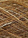 Fasergehalt 87% Acryl, 13% Metallic Lurex, Khaki, Brand Ice Yarns, Gold, Cream, fnt2-55398