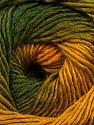 Fasergehalt 50% Acryl, 50% Wolle, Brand Ice Yarns, Green Shades, Gold, fnt2-55459