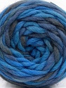 Fasergehalt 100% Wolle, Brand Ice Yarns, Grey, Blue Shades, Yarn Thickness 6 SuperBulky  Bulky, Roving, fnt2-55559