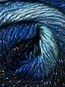 Fasergehalt 48% Acryl, 48% Wolle, 4% Metallic Lurex, Brand Ice Yarns, Blue Shades, Black, Yarn Thickness 2 Fine  Sport, Baby, fnt2-55569