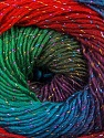 Fasergehalt 48% Acryl, 48% Wolle, 4% Metallic Lurex, Red, Purple, Brand Ice Yarns, Green, Blue, Yarn Thickness 2 Fine  Sport, Baby, fnt2-55570