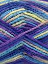 Состав пряжи 60% Полиамид, 40% Вискоза, Yellow, Purple, Light Green, Brand Ice Yarns, fnt2-55601