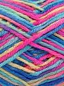 Состав пряжи 60% Полиамид, 40% Вискоза, Yellow, Turquoise, Pink, Brand Ice Yarns, Blue, fnt2-55602