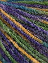 Состав пряжи 100% Акрил, Purple, Brand Ice Yarns, Green Shades, Gold, fnt2-55607