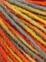 Состав пряжи 100% Акрил, Yellow, Orange, Light Blue, Brand Ice Yarns, fnt2-55612