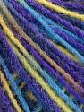 Состав пряжи 100% Акрил, Yellow, Turquoise, Purple, Brand Ice Yarns, fnt2-55615