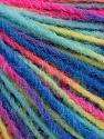 Состав пряжи 100% Акрил, Yellow, Turquoise, Pink, Brand Ice Yarns, Blue, fnt2-55616