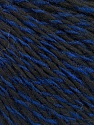 Fasergehalt 50% Wolle, 50% Acryl, Brand Ice Yarns, Blue, Black, fnt2-55626