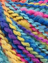 Fasergehalt 82% Acryl, 8% Polyamid, 10% Polyester, Yellow, Turquoise, Pink, Brand Ice Yarns, Blue, fnt2-55646