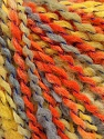 Fasergehalt 82% Acryl, 8% Polyamid, 10% Polyester, Yellow, Orange, Light Grey, Brand Ice Yarns, fnt2-55647