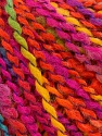 Fasergehalt 82% Acryl, 8% Polyamid, 10% Polyester, Yellow, Turquoise, Orange, Brand Ice Yarns, Fuchsia, fnt2-55648