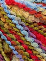 Fasergehalt 82% Acryl, 8% Polyamid, 10% Polyester, Yellow, Red, Light Blue, Brand Ice Yarns, Green, fnt2-55649