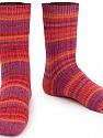 Fasergehalt 75% Superwash Wolle, 25% Polyamid, Salmon, Red, Purple, Orange, Brand Ice Yarns, fnt2-55660