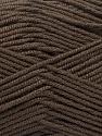 Fiber Content 70% Acrylic, 30% Wool, Brand Ice Yarns, Dark Brown, Yarn Thickness 4 Medium  Worsted, Afghan, Aran, fnt2-55752