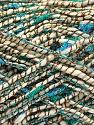 Fasergehalt 9% Polyamid, 70% Baumwolle, 20% Viskose, 1% Metallic Lurex, Turquoise, Brand Ice Yarns, Green, Cream, fnt2-55837