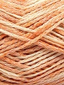 Fasergehalt 48% Baumwolle, 32% Acryl, 20% Polyamid, Light Orange, Brand Ice Yarns, Cream, fnt2-55883