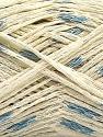 Fasergehalt 84% Baumwolle, 16% Polyamid, Brand Ice Yarns, Cream, Blue, fnt2-55889