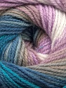 Fiber Content 100% Acrylic, White, Lilac, Brand Ice Yarns, Blue Shades, Beige, Yarn Thickness 3 Light  DK, Light, Worsted, fnt2-55951