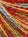 Fasergehalt 50% Wolle, 50% Acryl, Yellow, Red, Brand Ice Yarns, Green, Blue, fnt2-55991