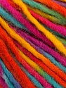 Fiber Content 50% Wool, 50% Acrylic, Rainbow, Brand Ice Yarns, Yarn Thickness 4 Medium  Worsted, Afghan, Aran, fnt2-55995
