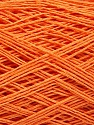Linen Cotton Natural Yarn  Fiber Content 80% Cotton, 20% Linen, Orange, Brand Ice Yarns, fnt2-56023