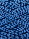 Linen Cotton Natural Yarn  Fasergehalt 80% Baumwolle, 20% Leinen, Brand Ice Yarns, Blue, fnt2-56024