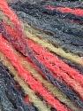 Fiber Content 90% Acrylic, 10% Polyamide, Neon Orange, Mint Green, Brand Ice Yarns, Grey Shades, Yarn Thickness 4 Medium  Worsted, Afghan, Aran, fnt2-56043