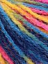 Fiber Content 90% Acrylic, 10% Polyamide, Yellow, Pink, Brand Ice Yarns, Blue Shades, Yarn Thickness 4 Medium  Worsted, Afghan, Aran, fnt2-56048