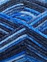 Fasergehalt 50% Wolle, 40% Polyamid, 10% Acryl, Brand Ice Yarns, Blue Shades, fnt2-56118