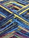Fasergehalt 50% Wolle, 40% Polyamid, 10% Acryl, Yellow, Maroon, Brand Ice Yarns, Blue Shades, fnt2-56121
