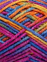 Fasergehalt 50% Wolle, 40% Polyamid, 10% Acryl, Yellow, Orange, Brand Ice Yarns, Fuchsia, Blue, fnt2-56124