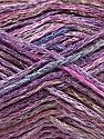 Fiber Content 60% Viscose, 40% Cotton, Pink, Maroon, Lilac Shades, Brand Ice Yarns, fnt2-56165