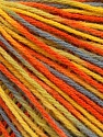 Fiber Content 50% Acrylic, 50% Wool, Yellow, Orange, Brand Ice Yarns, Grey, Yarn Thickness 3 Light  DK, Light, Worsted, fnt2-56205