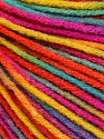 Fiber Content 50% Acrylic, 50% Wool, Rainbow, Brand Ice Yarns, Yarn Thickness 3 Light  DK, Light, Worsted, fnt2-56212