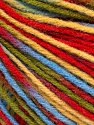Fiber Content 50% Wool, 50% Acrylic, Yellow, Red, Brand Ice Yarns, Green, Blue, Yarn Thickness 3 Light  DK, Light, Worsted, fnt2-56213