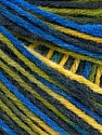 Fiber Content 50% Acrylic, 50% Wool, Yellow, Brand Ice Yarns, Green, Blue Shades, Yarn Thickness 3 Light  DK, Light, Worsted, fnt2-56217