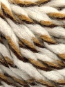 Fiber Content 50% Wool, 50% Acrylic, White, Brand Ice Yarns, Brown Shades, fnt2-56316