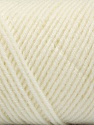 Fiber Content 50% Acrylic, 50% Wool, White, Brand ICE, Yarn Thickness 3 Light  DK, Light, Worsted, fnt2-56423