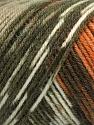Fasergehalt 50% Acryl, 50% Wolle, Turquoise, Orange, Khaki Shades, Brand Ice Yarns, Brown, fnt2-56447